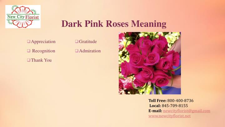 Dark Pink Roses Meaning