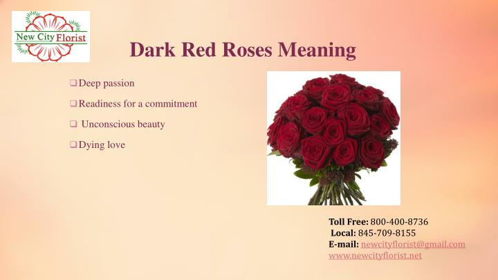 Dark Red Roses Meaning
