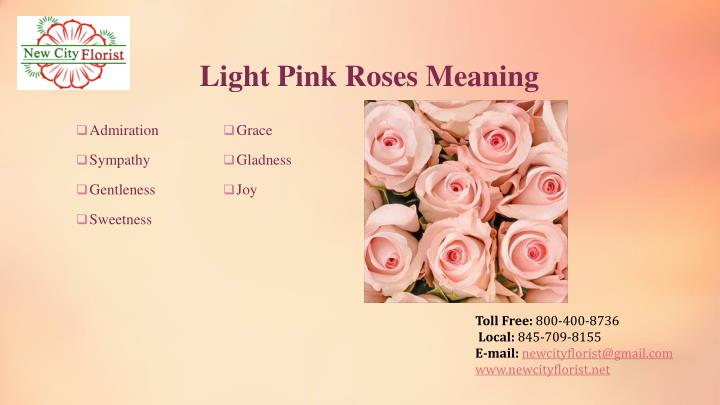 Light Pink Roses Meaning