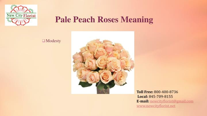 Pale Peach Roses Meaning