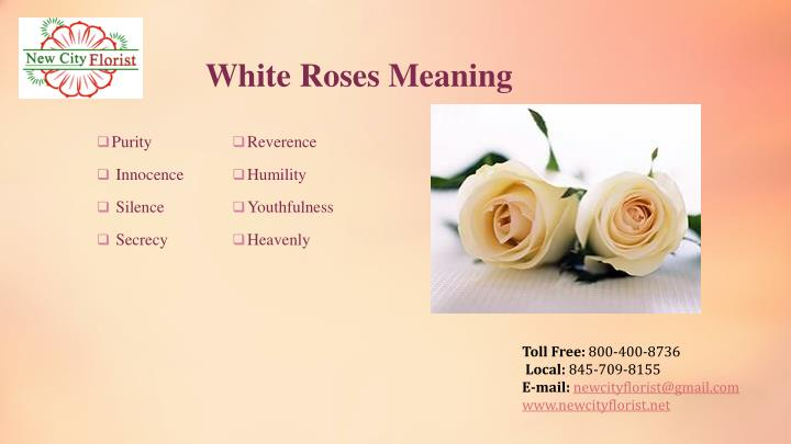 White Roses Meaning