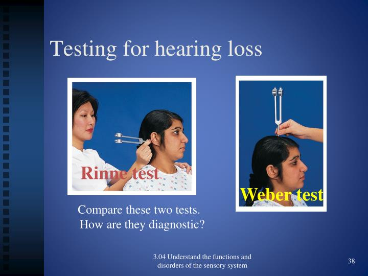 Testing for hearing loss