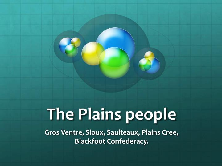 the plains people