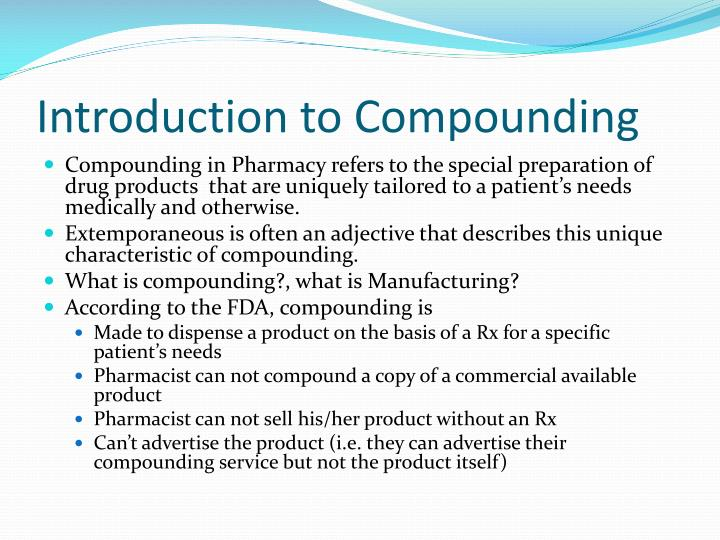 introduction to compounding n.