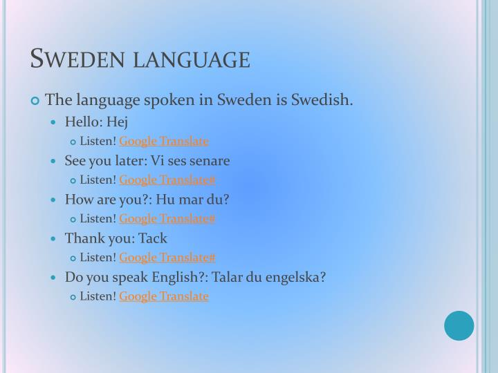Sweden language