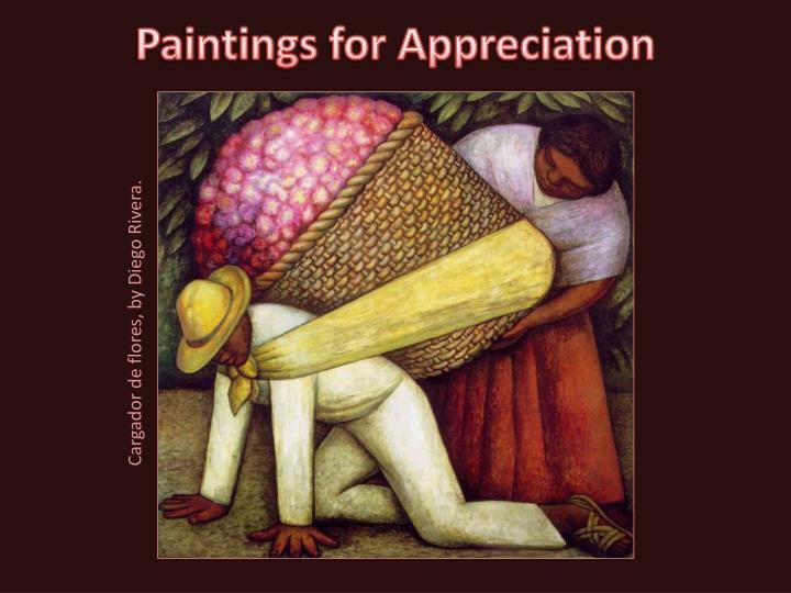 paintings for appreciation n.
