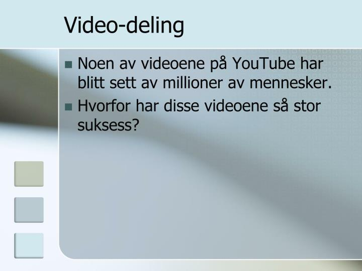 Video-deling