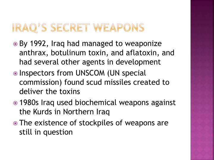 Iraq's Secret Weapons