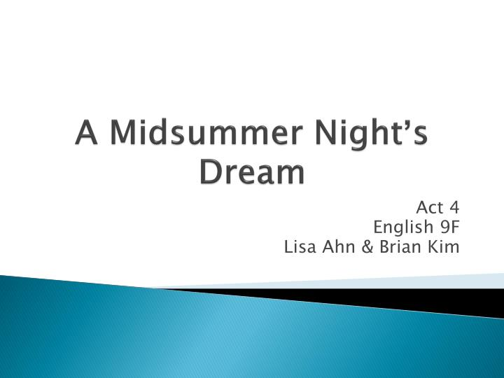 a midsummer night s dream n.