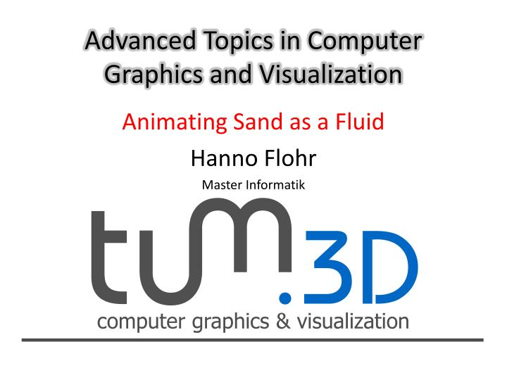 advanced topics in computer graphics and visualization n.