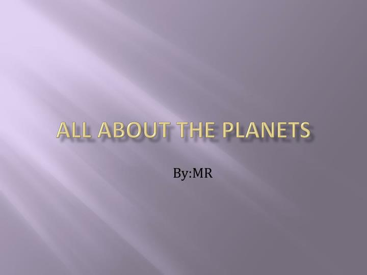 all about the planets n.
