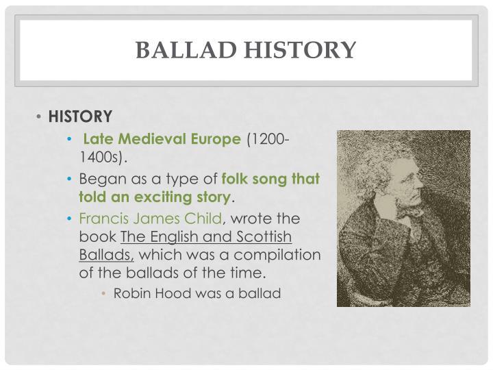 ppt ballads powerpoint presentation id 2144571