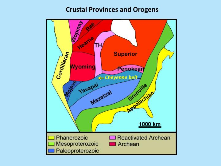 Crustal Provinces and Orogens