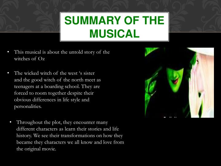 Summary of the musical