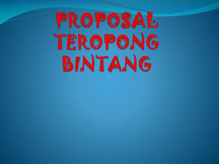 proposal teropong bintang n.