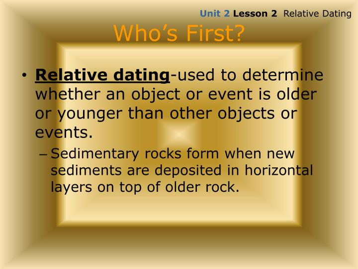 Whos on first relative dating