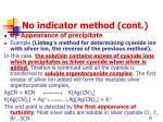 no indicator method cont