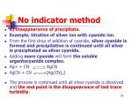 no indicator method