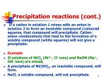 precipitation reactions cont1