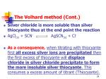 the volhard method cont1