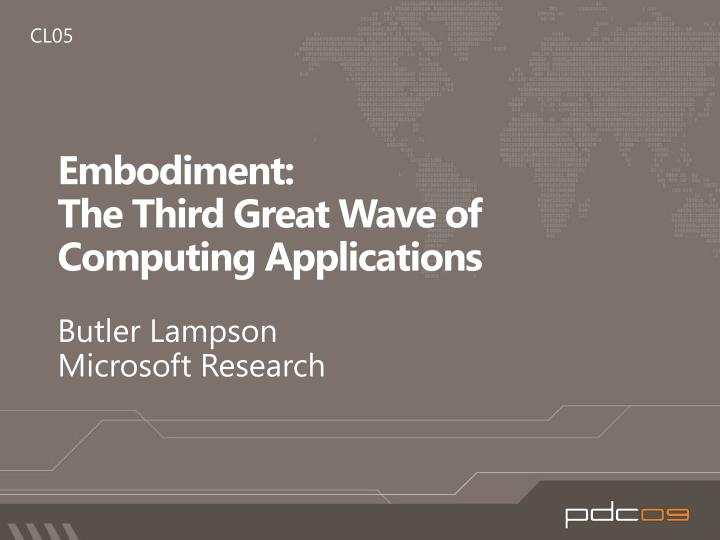 embodiment the third great wave of computing applications n.