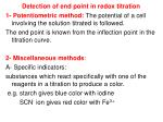 detection of end point in redox titration