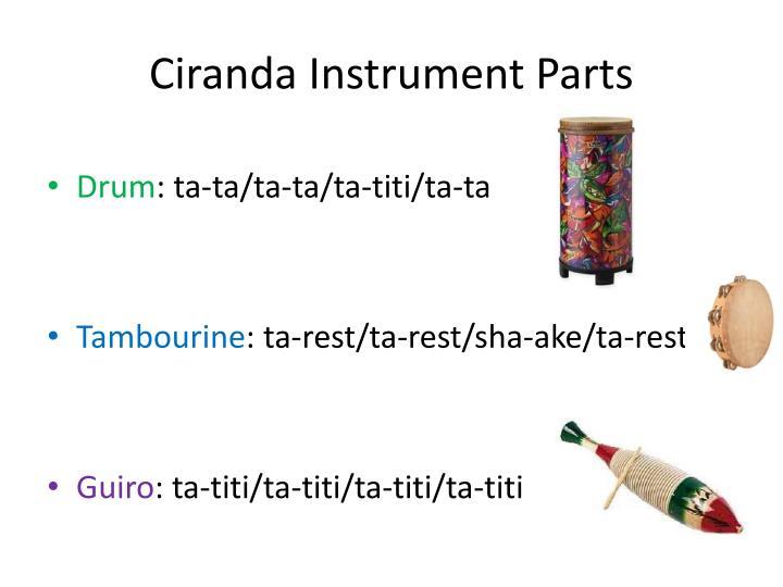 Ciranda instrument parts