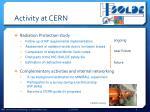activity at cern1