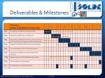 deliverables milestones