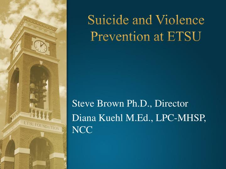 suicide and violence prevention at etsu n.