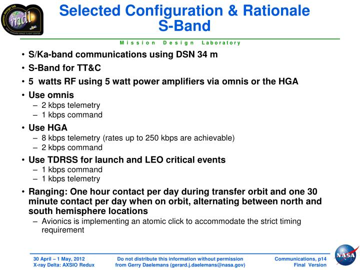 Selected Configuration & Rationale