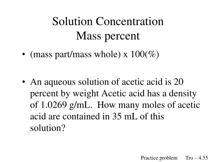 how to prepare weight percent in solution