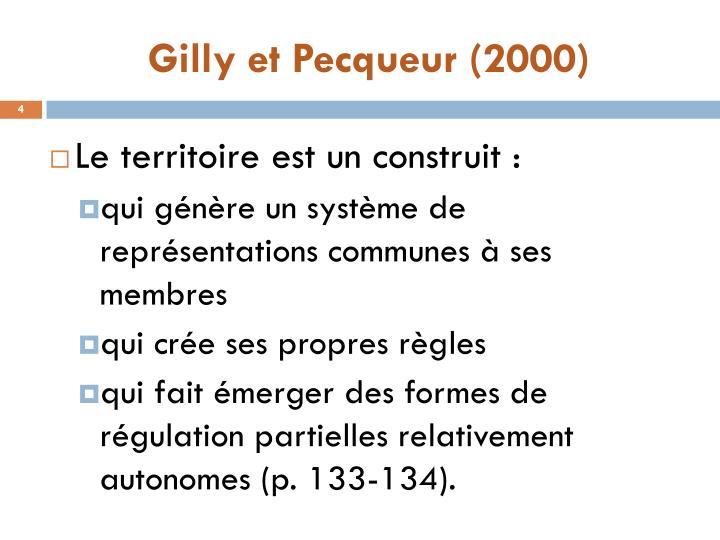 Gilly et Pecqueur (2000)