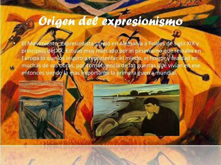 Origen del expresionismo