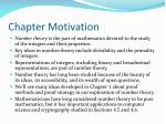 chapter motivation