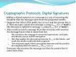 cryptographic protocols digital signatures