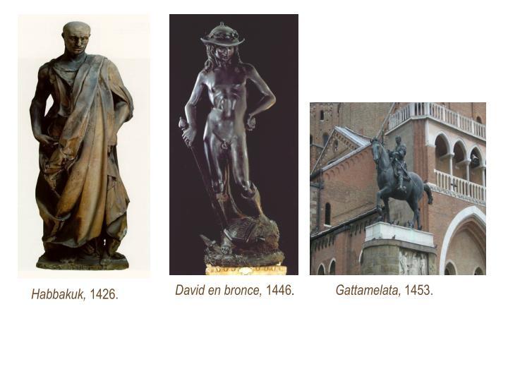 David en bronce,