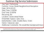 eastman gig service submission confirmation id 2542