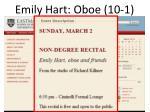 emily hart oboe 10 1
