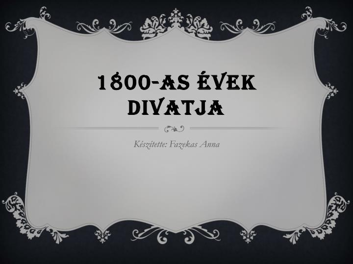 1800 as vek divatja n.
