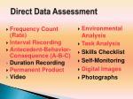 direct data assessment