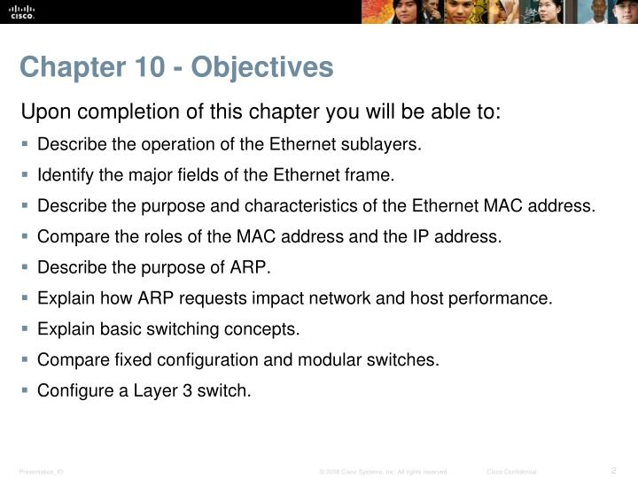 Chapter 10 objectives