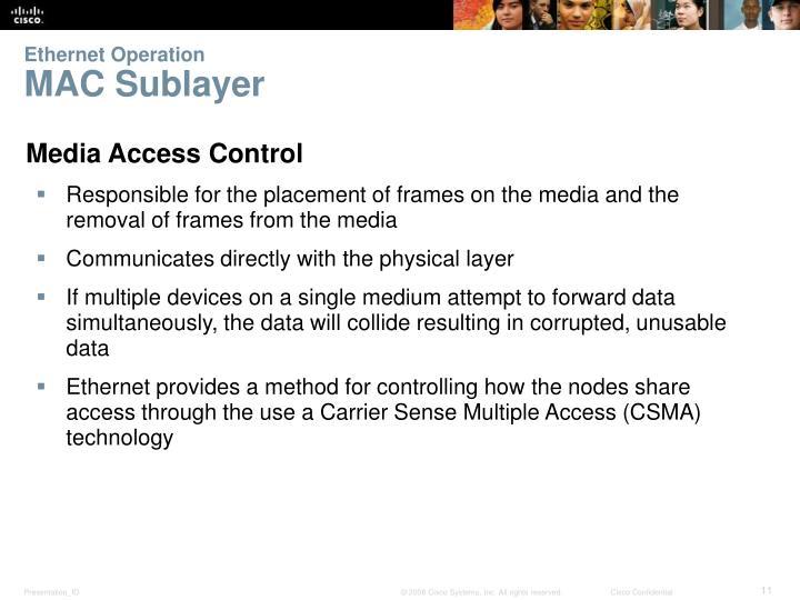 Ethernet Operation