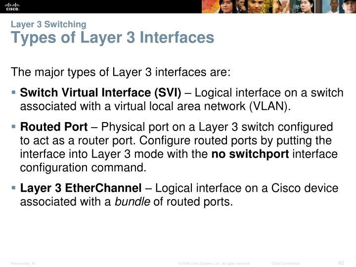 Layer 3 Switching