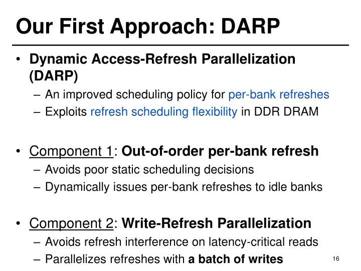 Our First Approach: DARP