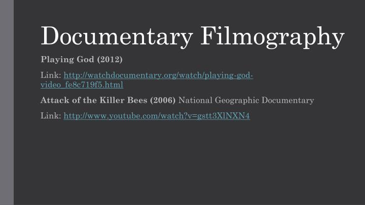 Documentary Filmography