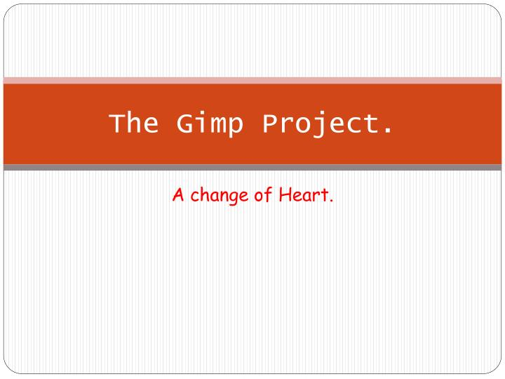 the gimp project n.