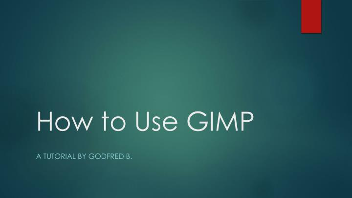 how to use gimp n.