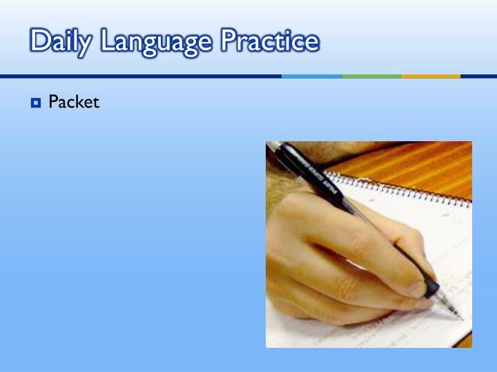 Daily Language Practice