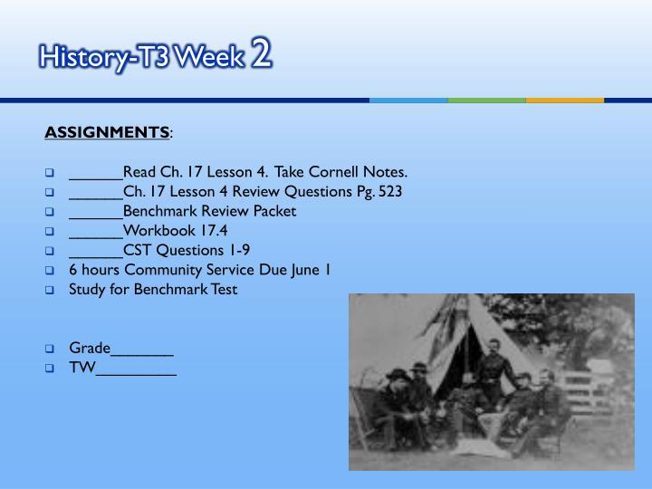 History-T3 Week